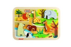 Lots of great toys in this Madison-based shop! Seven zoo friends say hello in our Zoo Chunky Puzzle. The chunky wooden pieces fit into color coded cut outs on the puzzle base making this a great first puzzle Toddler Toys, Baby Toys, Toddler Learning, Learning Toys, Toddler Activities, Toys For Boys, Kids Toys, Children's Toys, Happy Zoo