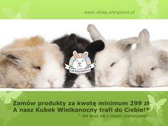 W naszym sklepie zrobiło się już króliczkowo. Serdecznie zapraszamy na www.sklep.alergsova.pl. Do zobaczenia w krainie szczęśliwych królików! #promocja #wielkanoc #alergia #astma #roztocza #atopowe