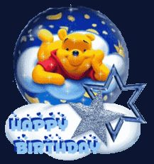 happy birthday winnie the pooh snow globe