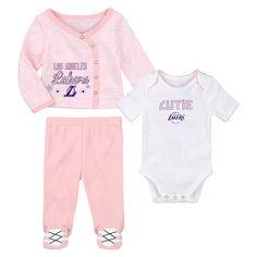 2f77474a7 Los Angeles Lakers Little Cutie Girl 3 Piece Set