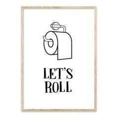 Stort udvalg af plakater til badeværelset - Bentzenberg – HomeDec. Bathroom Posters, Bathroom Signs, Lets Roll, Diy Wall Art, Room Inspiration, Illustration, Let It Be, Large Posters, Lazy Morning