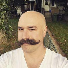 "mustache1964: ""Bald and Stached. Amazing handlebar """