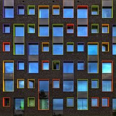'Dancing in the Dark' . (Beautiful coloured windows in Eindhoven, the Netherlands) Photography: Paul Brouns