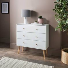 Homesavers | Bjorn 3 Drawer Chest 3 Drawer Chest, Chest Of Drawers, Oak Display Cabinet, Flat Ideas, Extra Storage, Dresser As Nightstand, Home Bedroom, Sideboard, Living Room Furniture