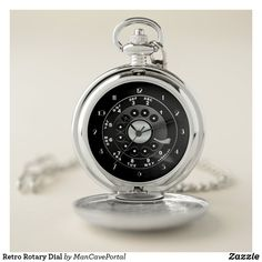 Retro Rotary Dial Pocket Watch Personalized Pocket Watch, Pocket Watches, Personal Shopping, Make A Gift, Christmas Card Holders, Rotary, Cool Watches, Portal, Keep It Cleaner