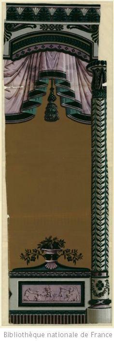 1000 images about bordure frises papier peint zuber vers 1800 frieze border stripe wall paper. Black Bedroom Furniture Sets. Home Design Ideas