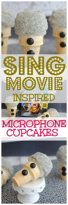 Edible microphones? Yes! These SING Movie inspired microphone cupcakes look so good you'll want to eat them- and you can! Singmovie singsquad (sponsored by Universal Entertainment)