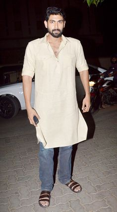 Rana Daggubati at the screening of 'Baahubali'. #Bollywood #Baahubali #Fashion #Style #Handsome