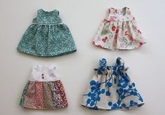 """cute dresses made from a pattern by """"The blueberry moon"""" blog but posted on """"Craftiness is not Optional"""" blog."""