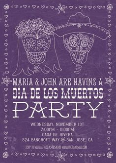 Cool Dia De Los Muertos invite.