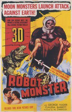 vintage Robot Monster horror movie poster