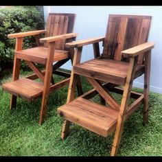 Reclaimed Cedar Lifeguard Chairs