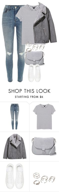 """""""Untitled #4786"""" by keliseblog ❤ liked on Polyvore featuring River Island, Monki, H&M, Halston Heritage, Anine Bing and Forever 21"""
