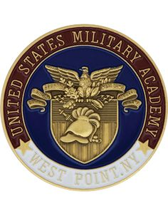 United States Military Academy, Bronze with Enamel Coin