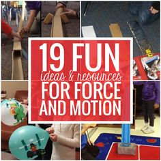 Teach force and motion with style by using experiments free printables and resources that will help bring science concepts alive. This collection of force and motion ideas should help you cover the topics of texture, gravity, incline and some simple machines.