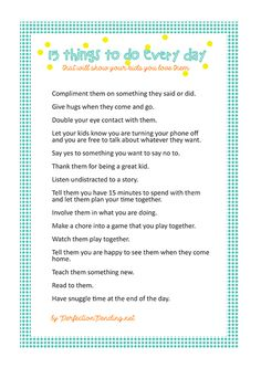 15 Things To Do Every Day That Will Show Your Kids You Love Them - Perfection Pending