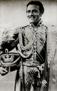 "Willy Fritsch  as Czar Alexander of Russia, ""Der Kongreß Tanzt"", 1931."
