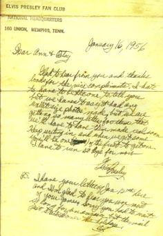 Elvis Fan Letter sells  on eBay for US$7,613.00