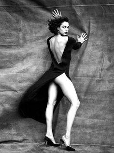 "This photo say ""whoa""     Famke Janssen photographed by Sante D'Orazio"