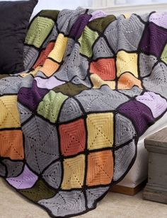 Yarnspirations.com - Caron Tiffany's Afghan - Patterns  | Yarnspirations