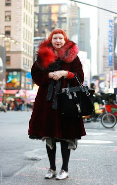 Lynn Yaeger, not real fur for me unless it's vintage.