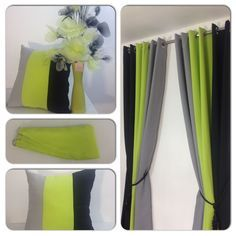 Lime Green curtains - Eyelet curtains Ring Top Fully Lined Pair Ready made 3 Tone Lime Green. Lime Green Rooms, Lime Green Curtains, Green Boys Room, Grey Curtains, Living Room Green, Bedroom Green, Living Room Decor, Bedroom Decor, Bedroom Ideas