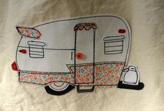 Your place to buy and sell all things handmade Shasta Trailer, Shasta Camper, Camper Trailers, Vintage Caravans, Vintage Travel Trailers, Vintage Campers, Vintage Floral Fabric, Diy Embroidery, Embroidery Patterns
