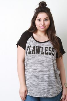 Flawless Graphic Print High Low Color Block Top