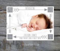 Geboortjekaartje meisje jongen birth announcement card Famme.nl
