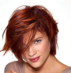 If you have full bangs, you can color the ends with some dark color like dark brown. They will highlight the bangs and will make you look cool.