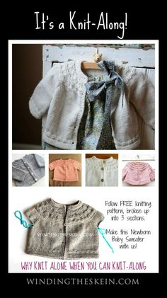 Seamless Yoked Baby Sweater Knit-Along, Free Knitting Pattern for Babies