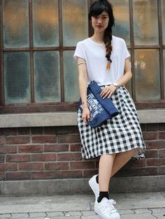 WEGO 心斎橋2号店|Mai Ohnishiさんのスカート「WEGO/リネンユニオンスカート(WEGO LADY'S|ウィゴーレディース)」を使ったコーディネート
