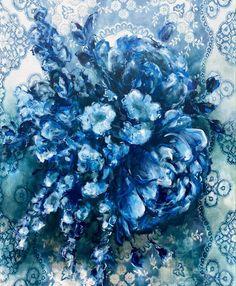 Heidi Shedlock: China Bouquet: fine art   StateoftheART Bathroom Art, Delft, Canvas Size, Original Artwork, Africa, Bouquet, China, Oil, Fine Art
