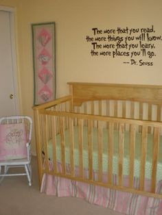 Book themed nursery quote