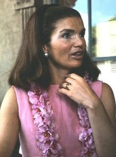 Jackie Kennedy on the balcony of the Hawaiian Governor's office.
