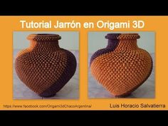 Tutorial Jarrón en Origami 3D - YouTube Origami Bowl, Origami 3d, Origami Videos, Modular Origami, Diy And Crafts, Paper Crafts, Envelope Box, Paper Folding, Paper Models