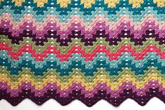 Granny Ripple Blanket, free pattern by Staci Perry