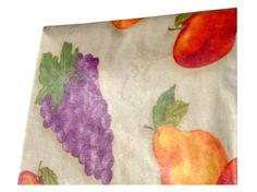 Grapes Apples Pears Fruit Themed Tablecloth $16.95