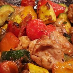 Naked Bacon chicken thighs and beef stir fried with cherry tomatoes zucchini and yellow squash.  Order online at nakedbaconco.com  #whole30approved #paleo #crossfit #nakedbacon #crossfitgirls #yoga #yogagirls #surfing #surfergirls #saintlouis #chicago #nyc #miami #minneapolis #denver #boulder #saltlakecity #seattle #portland #napa #sanfrancisco #losangeles #sandiego #dallas #austin #albertsons #publix #centralmarket #heb by naked_bacon_