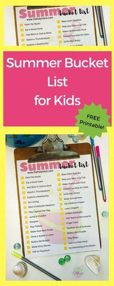 Summer Bucket List for Kids Free Printable Parenting Books, Parenting Advice, Mom Advice, Giant Bubbles, Summer Activities For Kids, Free Activities, Summer Fun, Summer Ideas, Fun Ideas