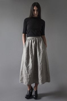 81f467e39043 Vathir - Shop EVERYDAY SKIRT IN GREY by Kesa on the world's leading  marketplace for artisanal