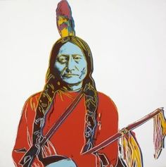 Andy Warhol - Sitting Bull | From a unique collection of prints and multiples at http://www.1stdibs.com/art/prints-works-on-paper/