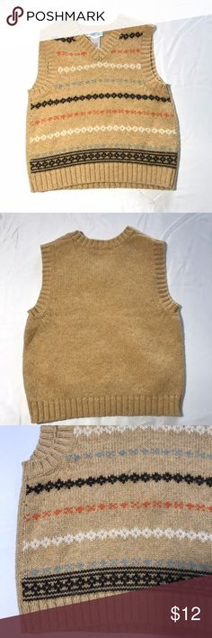 Boys Janie and Jack Tan Striped Sweater Vest 2T Boys Janie and Jack Tan Striped Sweater Vest 2T. Excellent condition no flaws Janie and Jack Shirts & Tops Sweaters