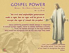 Gospel Power 16th Week – Monday
