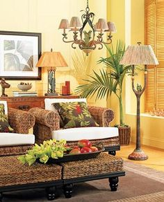 plantation island style living room tropicalstylelivingroom tropical - Tropical Decor