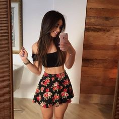MORE PICTS You can also see more ideas about trendy girly outfits , girly outfits teenage , girly outfits night out , girly outfits date , g. Cute Fashion, Skirt Fashion, Teen Fashion, Fashion Outfits, Style Fashion, Fashion Ideas, Girly Outfits, Cute Casual Outfits, Summer Outfits