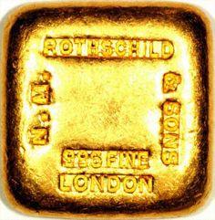 Rothschild Gold Bar, London England