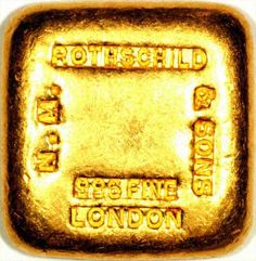 Rothschild Gold Bar, London England