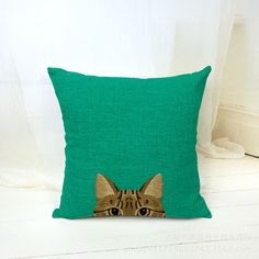 "Scandinavian Pouf 18"" French Bulldog Decorative Pillow Home Decor Cat Cushion Coussin Escritorio Car Almofada Cojin"