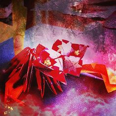 Paper origami I have made and added some dramatic effects from InstaEffects. AFTER